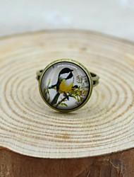 Unisex Galaxy Bird Small Fresh Time Gem Ring