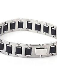 Men's Fashion Silica Titanium Steel Three Pieces Sheet Bracelets
