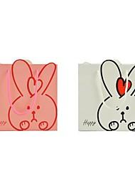 lureme bolsa patterngift conejo hermosa (rosa, blanco) (1 unidad)