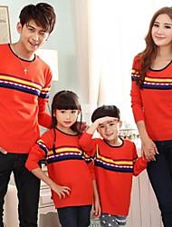 Family's Fashion And Joker Parents Children Bohemia Striped Knitting Sweater