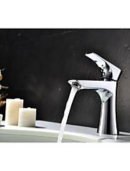 laiton chromé contemporaine trou unique poignée unique lavabo robinet