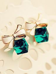 d&-2 x pendientes de cristal arco de las mujeres