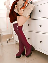 Women's Shoes Round Toe Chunky Heel Over The Knee Boots More Colors available