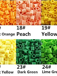 Approx 500PCS/Bag 5MM Perler Beads Fuse Beads Hama Beads EVA Material Safty for Kids (Assorted B17-B24)