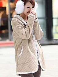 Мода материнства сократился с капюшоном толщиной теплой длинном пальто