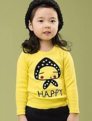 la tête de champignon de fille à manches longues t-shirt