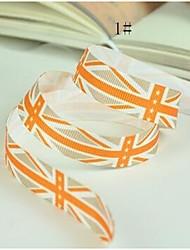 3/8 polegadas de moda britânica vento o padrão de impressão em fita de costela bandeira de união fita-5 jardas cada saco