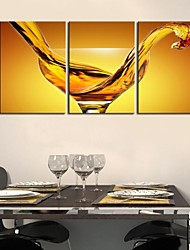 Personalized Canvas Print Stretched Canvas Art Wine Glass  35x50cm  50x70cm  Framed Canvas Painting Art Set of 3