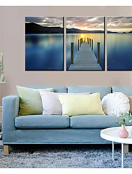 Personalized Canvas Print Wooden Bridge 40 x 60cm 28 x 40cm Framed Canvas Painting  Set Of 3