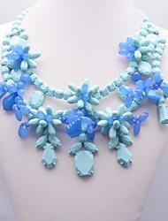 Women's Weave Flower Pattern Necklace