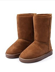 Women's Spring Fall Winter Snow Boots Leatherette Office & Career Casual Flat Heel Black Brown Tan