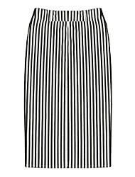 Midi - Undurchsichtig/Dünn - Stil - ROCK (Baumwolle/Strickware)