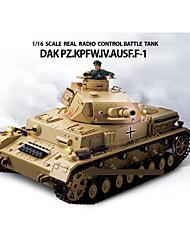 Heng Long 1/16 IV alemán, tipo F No. Asistencia Medianas RC tanque de batalla simulada Con Humo