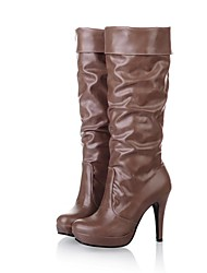Women's Shoes Round Toe Stiletto Heel Knee-high Boots More Colors Available