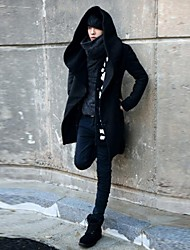 Men's Slim Hoodies Pure Parka Coat