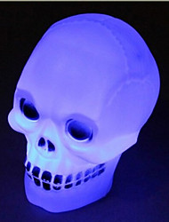 LED Skull Light 1 Light Novelty Color Changing Plastic