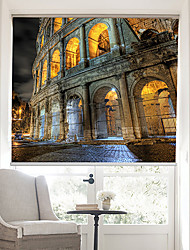 Sketchy Night Landscape of Rome Colosseum Roller Shade