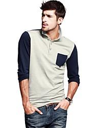 Kuegou® Men's Leisure Long-sleeved Polos