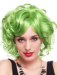 Elegant Queen Green Synthetic Fiber 30cm Women's Halloween Party Wig