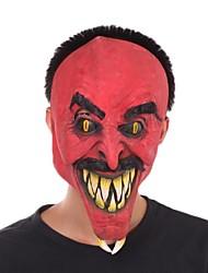 Evil Red Face Devil Latex Mask for Halloween