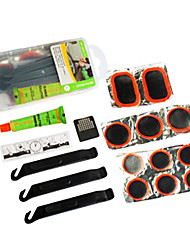 SAHOO Translucent PE Boxed Bike Tire Repair Kit Including POM Tyre Lever