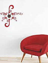 zooyoo® часы электронные батарея DIY красный цветок фоном настенные часы настенные наклейки домашнего декора для комнаты