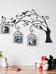 Metal Wall Art Wall Decor,The Bird's Nest Wall Decor Can Replaceable Photos
