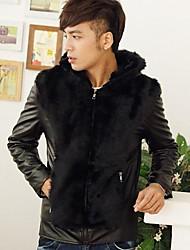 Men Faux Fur Outerwear