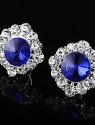 vintage strass jóia do parafuso prisioneiro das mulheres do coração de Leo