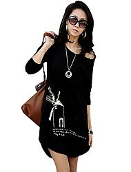 moda de manga larga fresca t-shirt