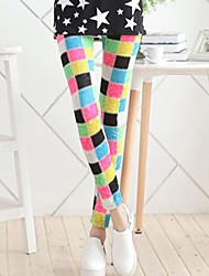 Women Print Legging , Acrylic/Viscose