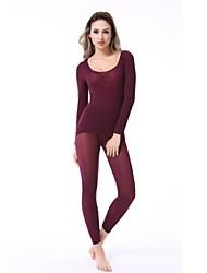 mulheres esticar a fibra underwear térmico febre corpo
