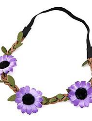 Fashion Sweet Green Leaves Flower Hair Band