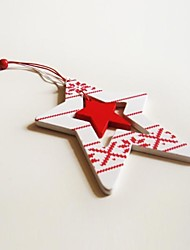 Christmas Hanging Decoratives  Long Five-Pointed Star  Shape  1 PC MDF Materiels
