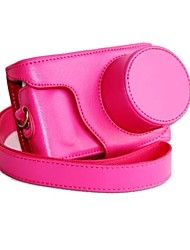 pajiatu® retro pu lederen camera beschermende case tas hoes met schouderband voor Samsung NX-mini nxf1 9-27mm lens