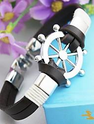 Vintage-Ruder-PU-Handarbeit Armband Schmuck