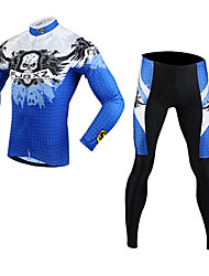 FJQXZ Cycling Jersey with Tights Men's Long Sleeve Bike Sleeves Clothing SuitsThermal / Warm Quick Dry Windproof Ultraviolet Resistant