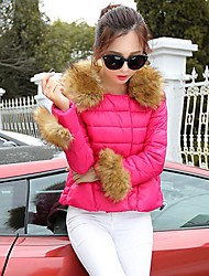 Women's Luxury Fashion Wild Fur Collar Short Paragraph  Down