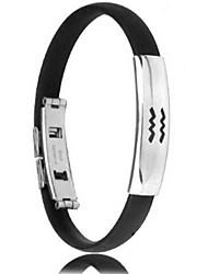 Herrenmode Persönlichkeit Titan Stahl Silikon zwölf Sternbild Wassermann Armbänder