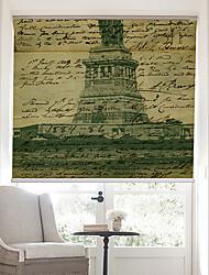 página retro palabras con la estatua de la libertad persiana fondo