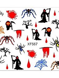 3d hallowmas ongles autocollants xf567