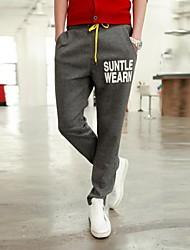 Men's Sweatpants , Casual/Sport Print Cotton Blend