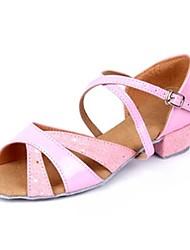 sandalias de los niños latinos 'zapatos de hebilla de tacón de baile gruesos (más colores)