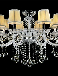 Modern Crystal Chandelier with 8 Lights