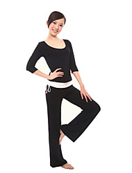 Damenmode Yoga Fitness Workout Kleidung Anzüge 3 Sets (Yoga Coat + Sexy Yoga Vest + Kordelzug Yoga Pants)