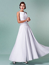 Lanting A-line Plus Sizes Wedding Dress - White Ankle-length Straps Lace