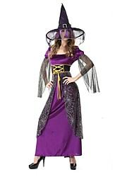 ragno strega vestito viola e nero delle donne halloween costume