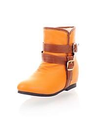 botines zapatos de moda talón plano de las mujeres más colores disponibles