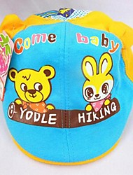 Children's  Fashion Lovely Printing Bear Rabbit Butterfly Pure Cotton Hat