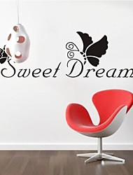 ZOOYOO® removable colorful cute sweet dreams 3D wall sticker home decor wall stickers for kids/lbed room